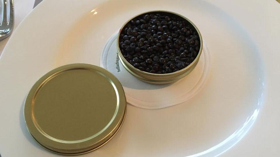 Osteria Francescana caviar lentejas Massimo Bottura