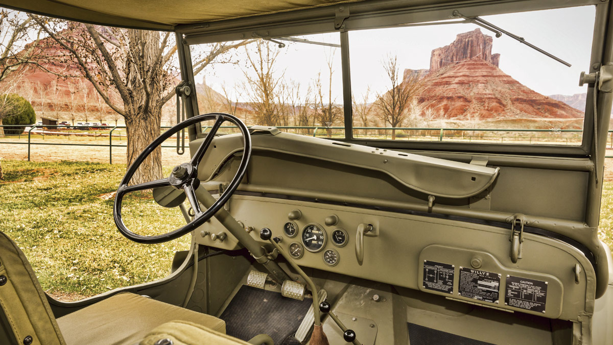 Jeep Willys interior