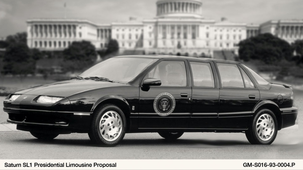 4. 1993 Saturn SL1 State Car para el presidente Bill Clinton