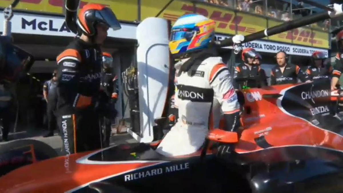 Abandono Alonso GP Australia F1 2017