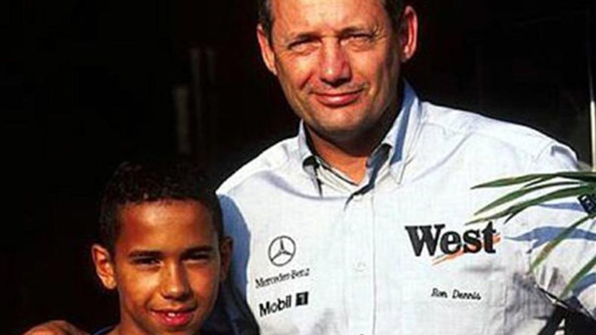 Lewis Hamilton y Ron Dennis