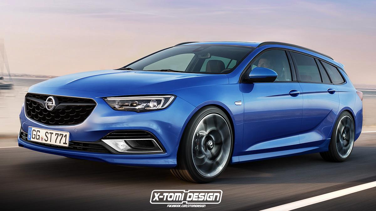 Así podría ser el Opel Insignia OPC 2018 según X-Tomi