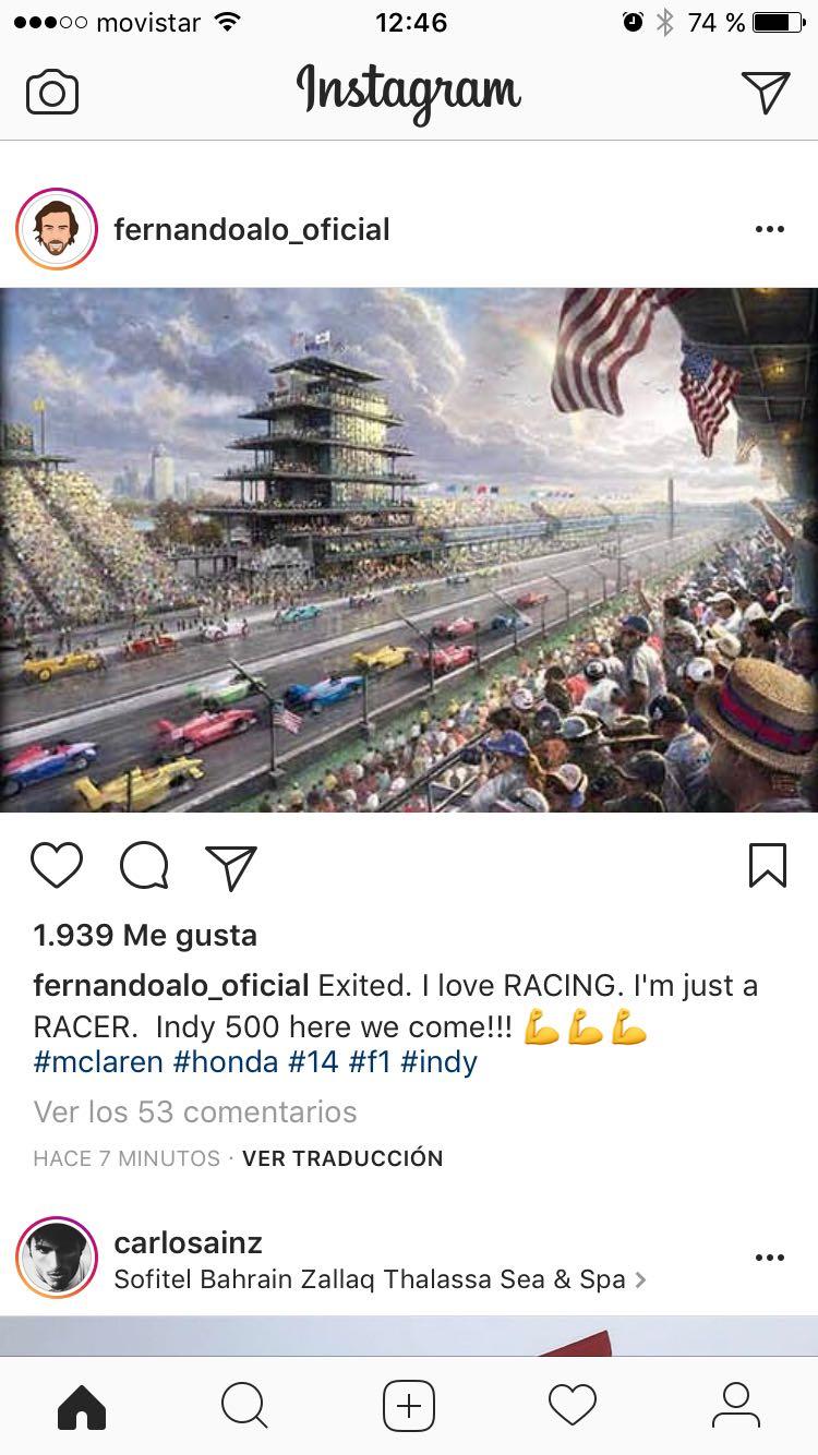 Instagram de Alonso