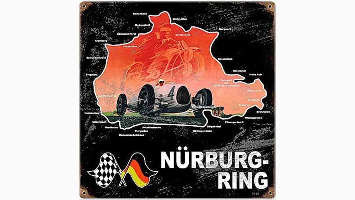 Los 9 mejores regalos para los locos de Nürburgring - Chapa decorativa