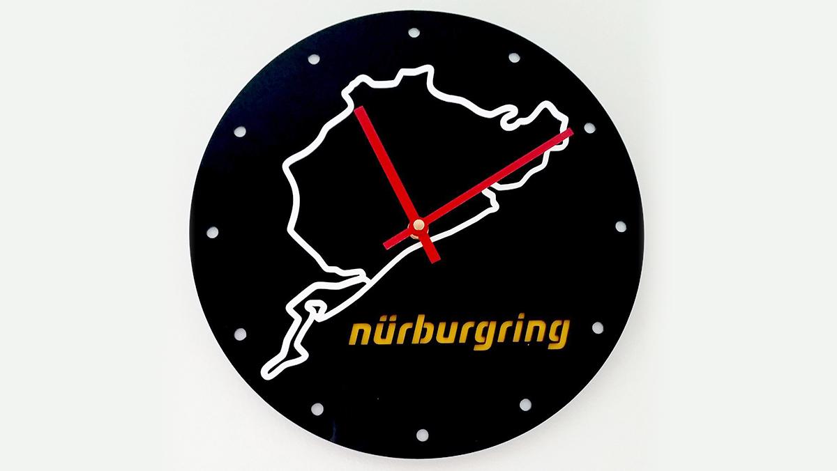 Los 9 mejores regalos para los locos de Nürburgring - Reloj de pared
