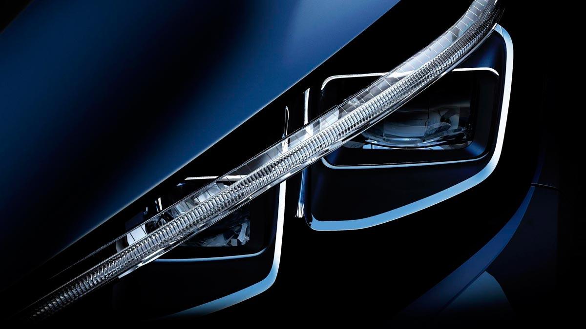 Faros Nissan Leaf 2017 render led