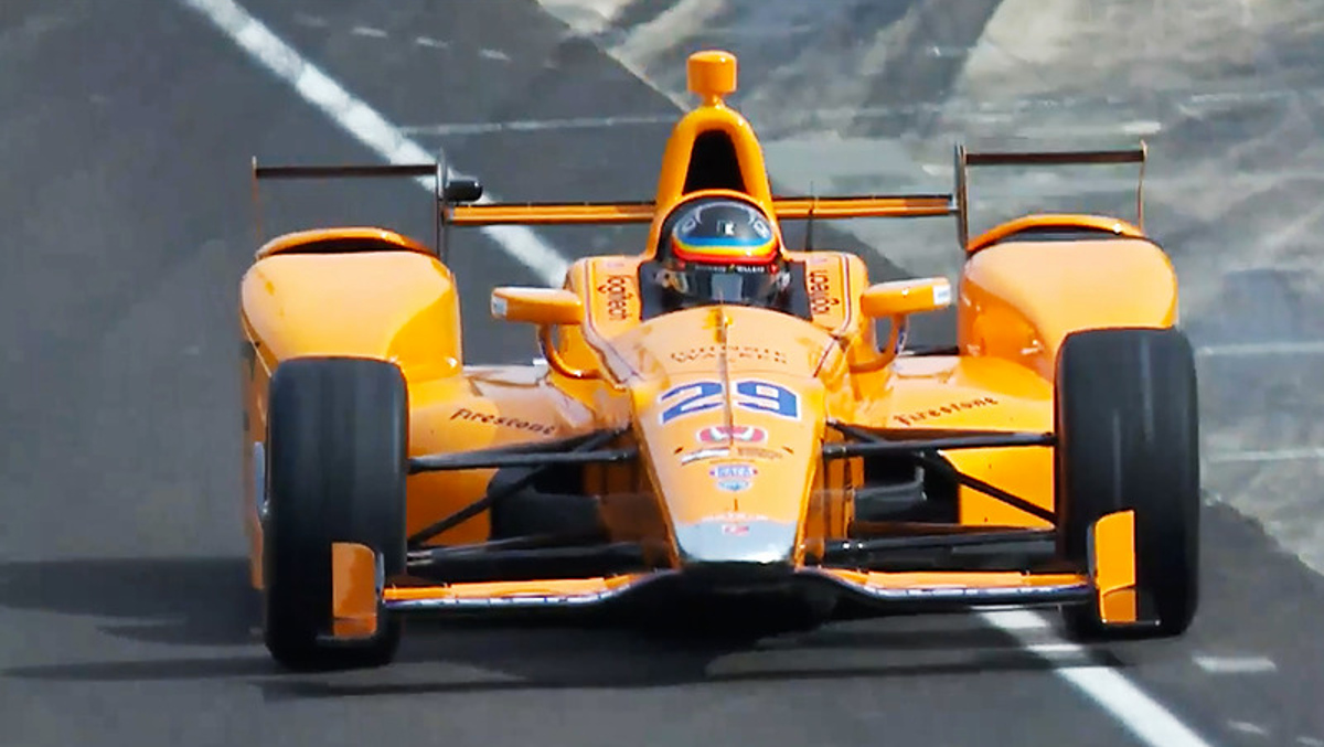 Alonso Indy 500 ROP Test
