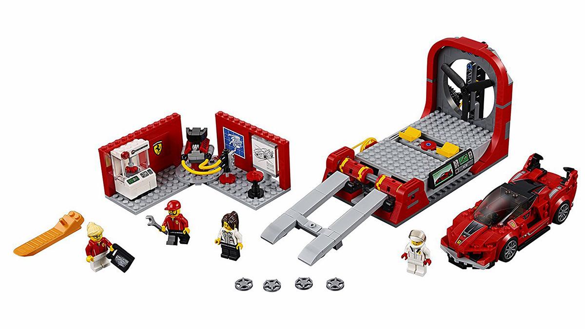 Los mejores coches de Lego por menos de 100 euros - Ferrari FXXK y centro de desarrollo