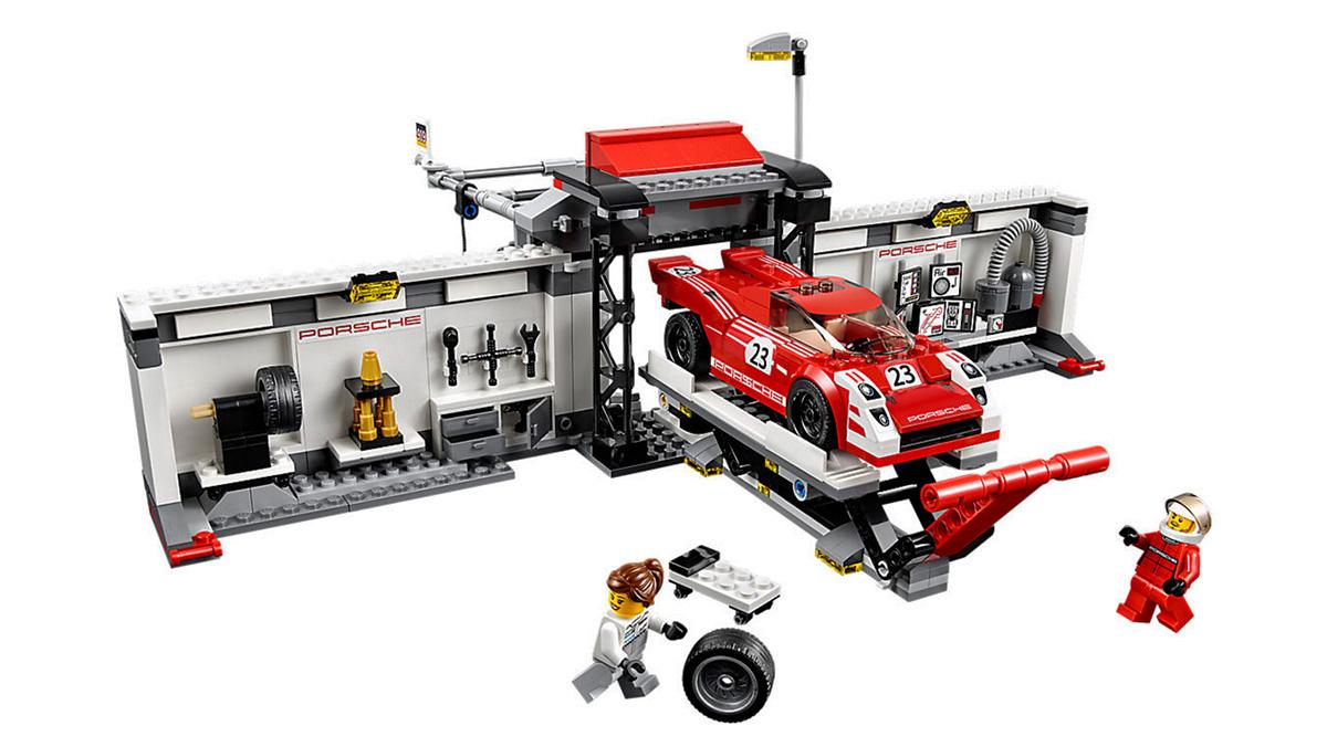 Los mejores coches de Lego por menos de 100 euros - Puesto de reparación Porsche 919 Hybrid y 917K
