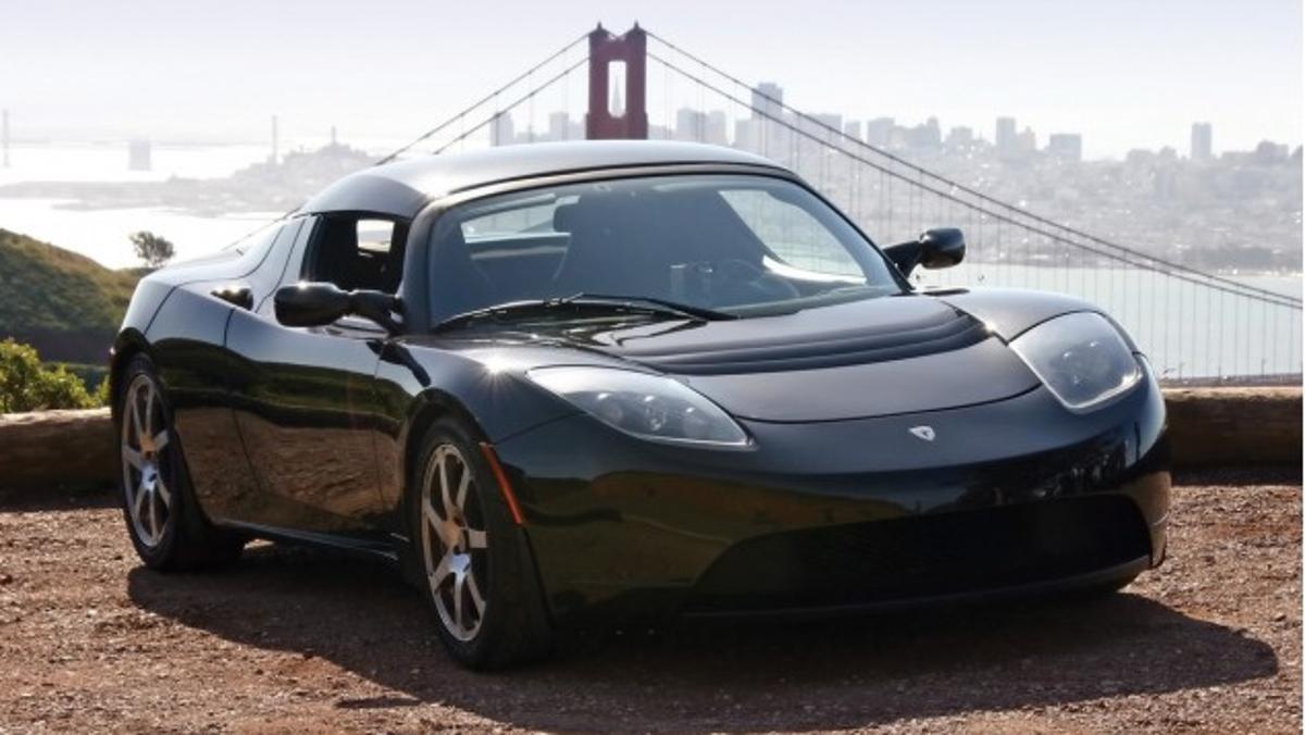 Tesla Roadster Clooney