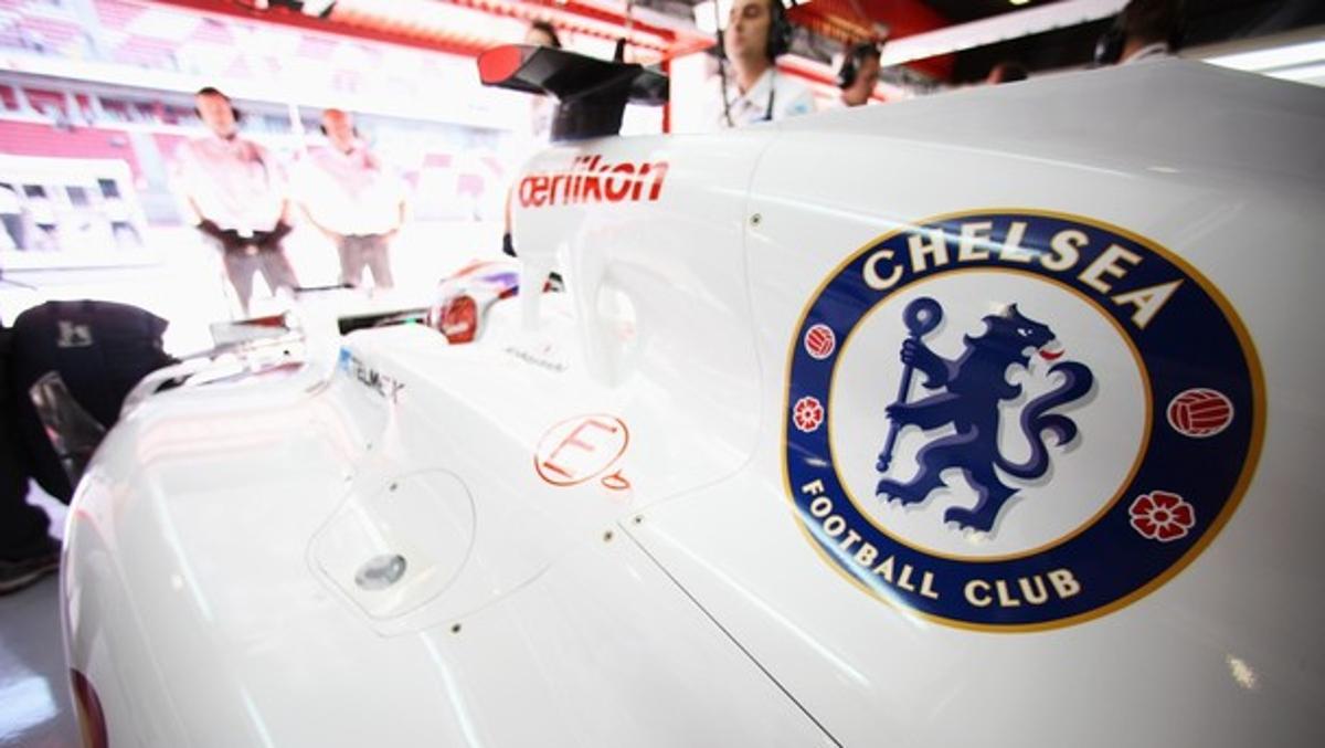 El escudo del Chlesea en el Sauber 2012