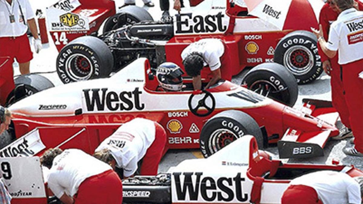 Bromita del equipo Zakspeed F1 en Hungría 1986