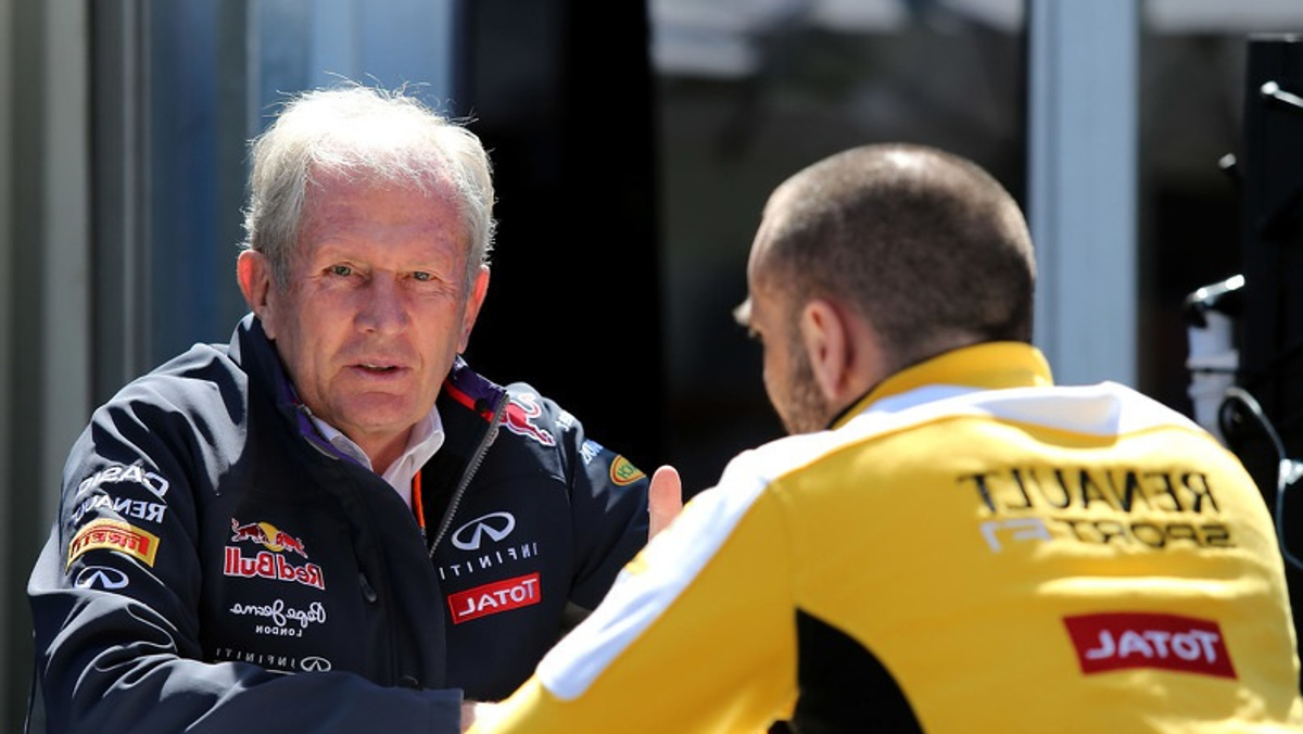 Cyril Abiteboul, y de Red Bull, Helmut Marko