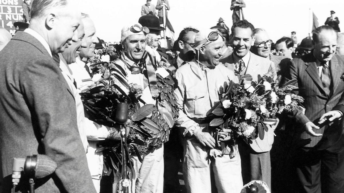 Nino Farina ganador en Silverstone 1950