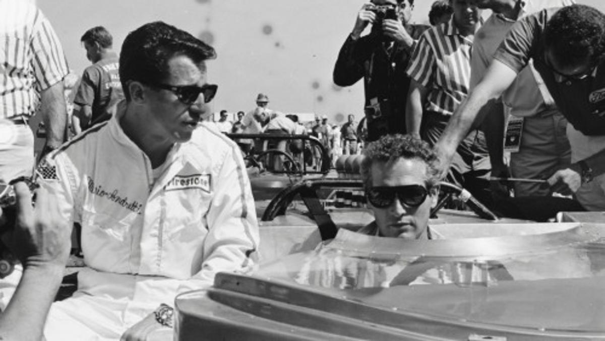 Paul Newman y Mario Andretti
