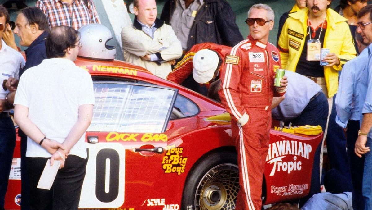 Paul Newman y su Porsche 935 en Le Mans 1979