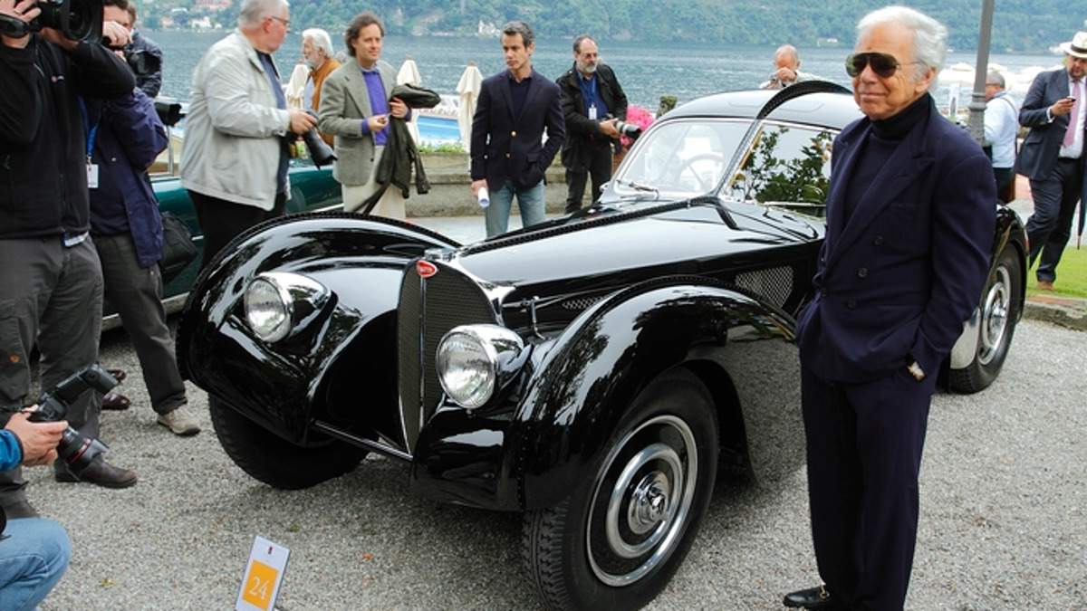 Ralph Lauren and his 1938 Type 57SC Bugatti Atlantic Coupe