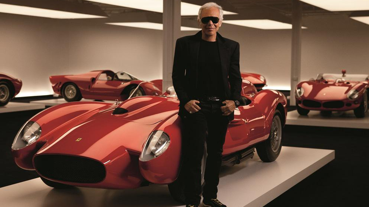 Ralph Lauren y uno de sus Ferrari favoritos