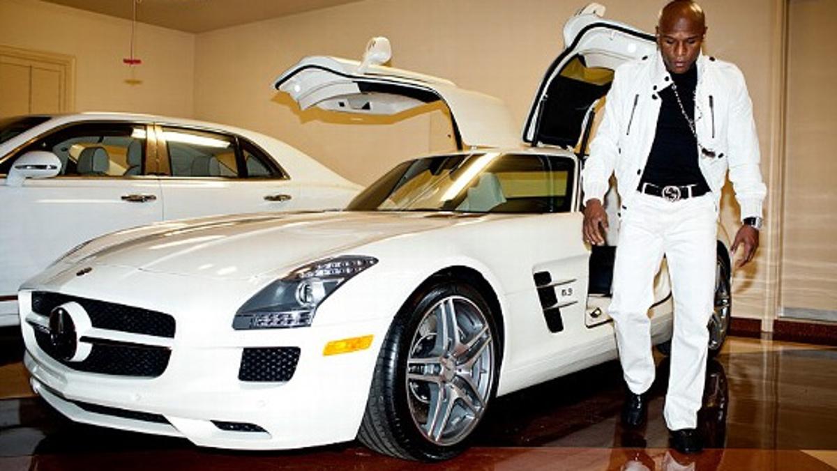 El Mercedes SLS del amigo Floyd