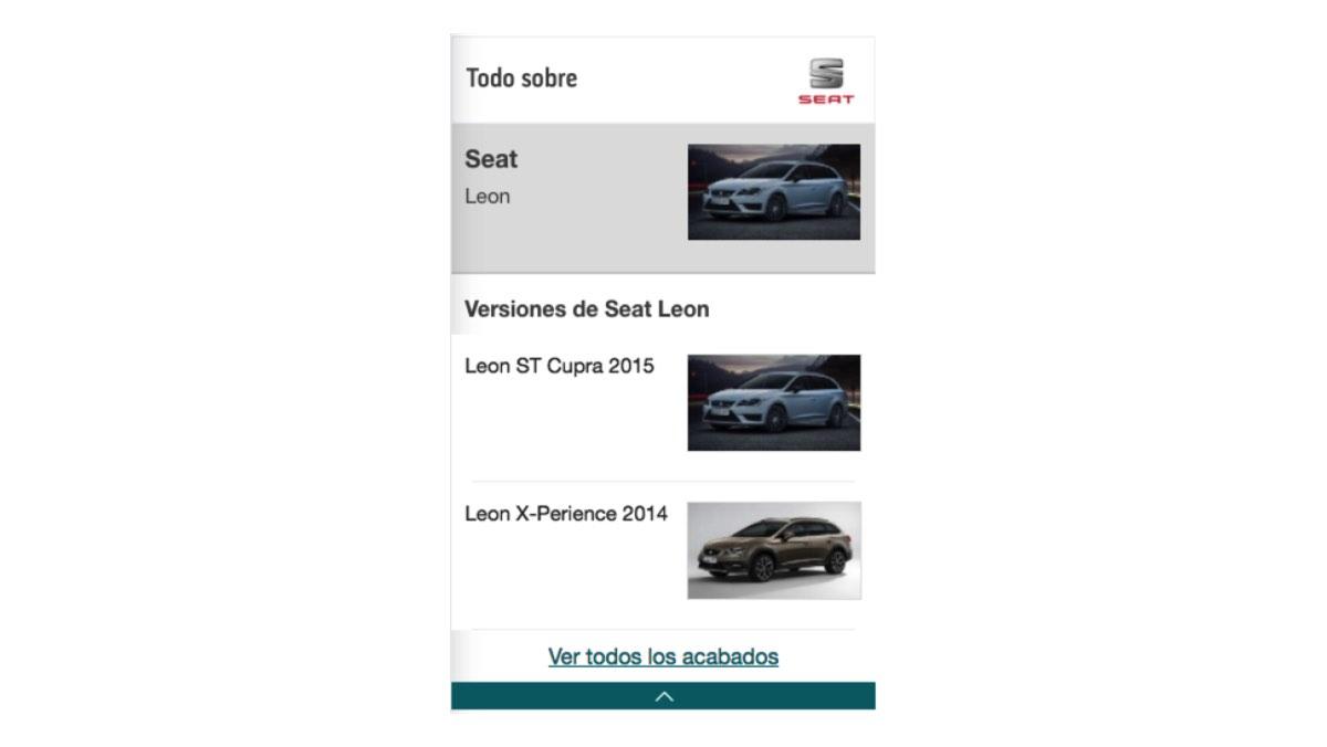 Fichas técnicas de coches nuevos