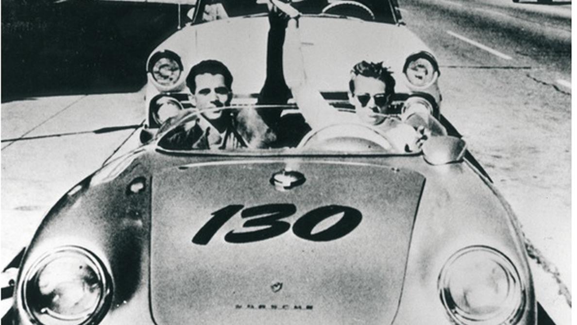 James Dean, su Porsche y el mecánico