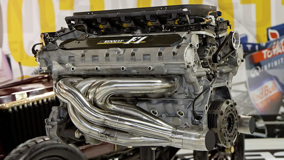 Motor de un coche F1