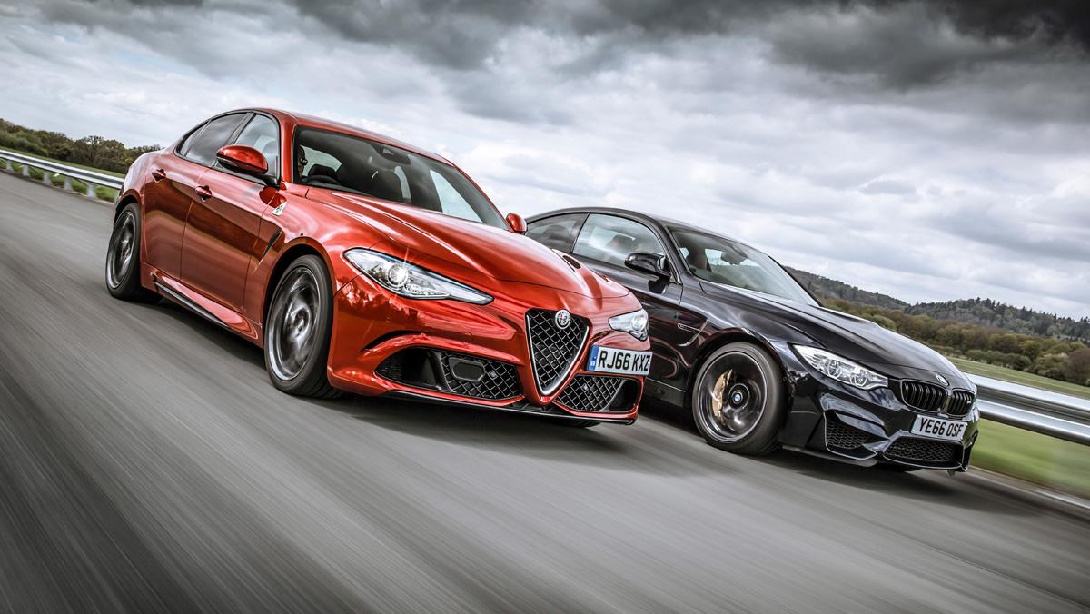Alfa Romeo Giulia QV vs BMW M4 M Competition (frontal)