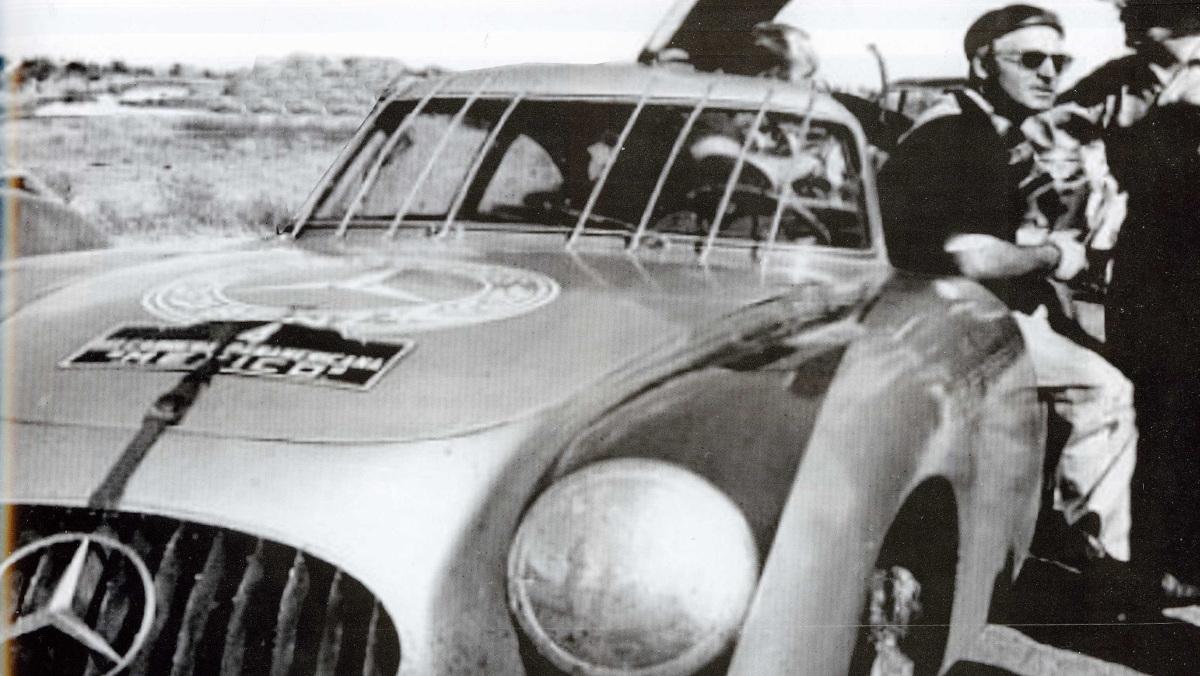 Karl Kling y su Mercedes en la Carrera Panamericana