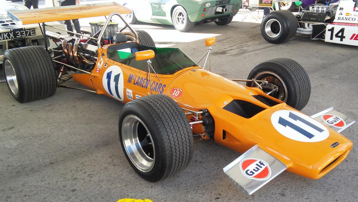 Lateral del McLaren M10A de 1969