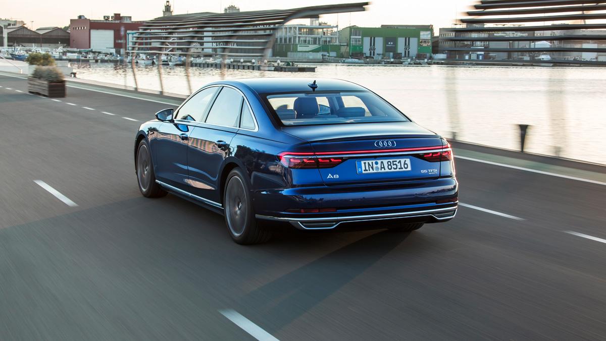 Prueba Audi A8 2017 (trasera)