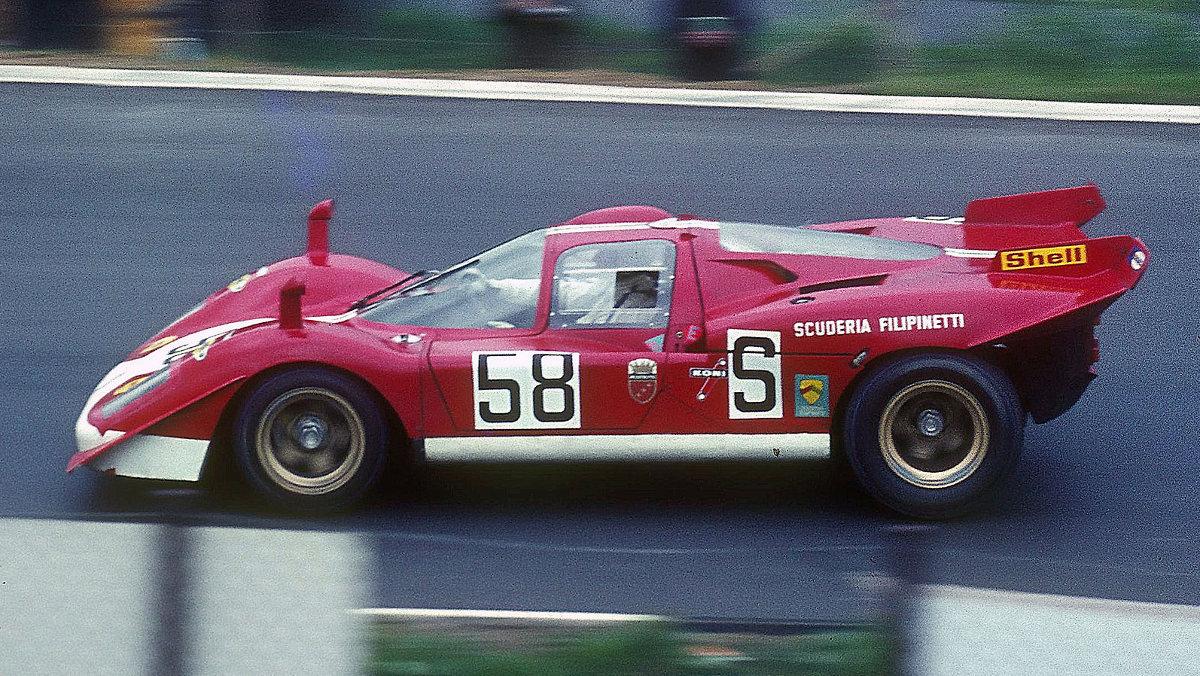 Ferrari 512, en plena acción