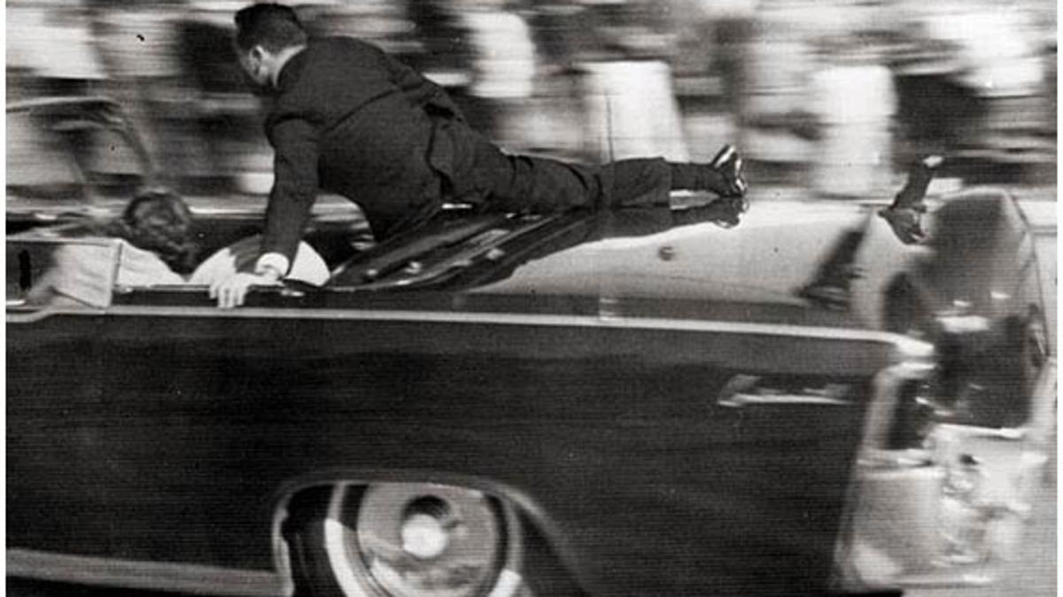 Instantes después del asesinato de Kennedy