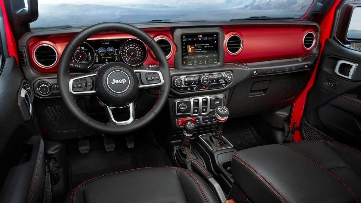 Jeep Wrangler 2018 interior off-road