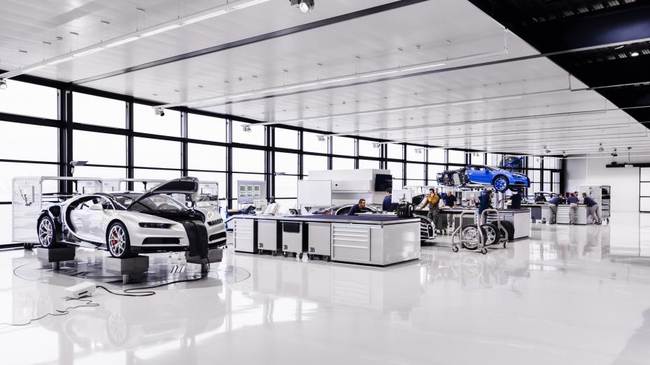 Fabricación Bugatti Chiron