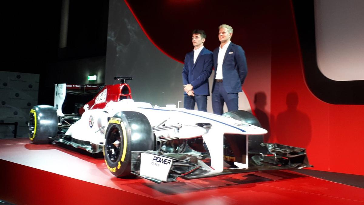 LECLERC Y ERICSSON EN LA PRESENTACIÓN DEL ALFA ROMEO SAUBER F1 TEAM 2018