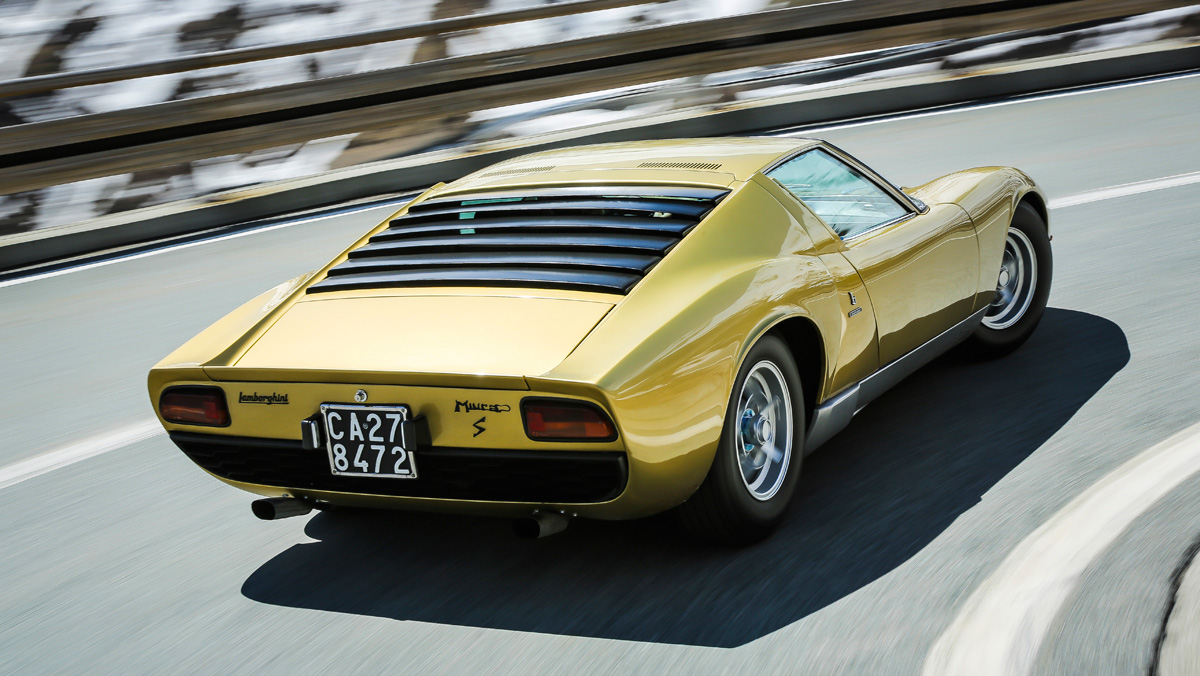 Prueba Lamborghini Miura (curva)