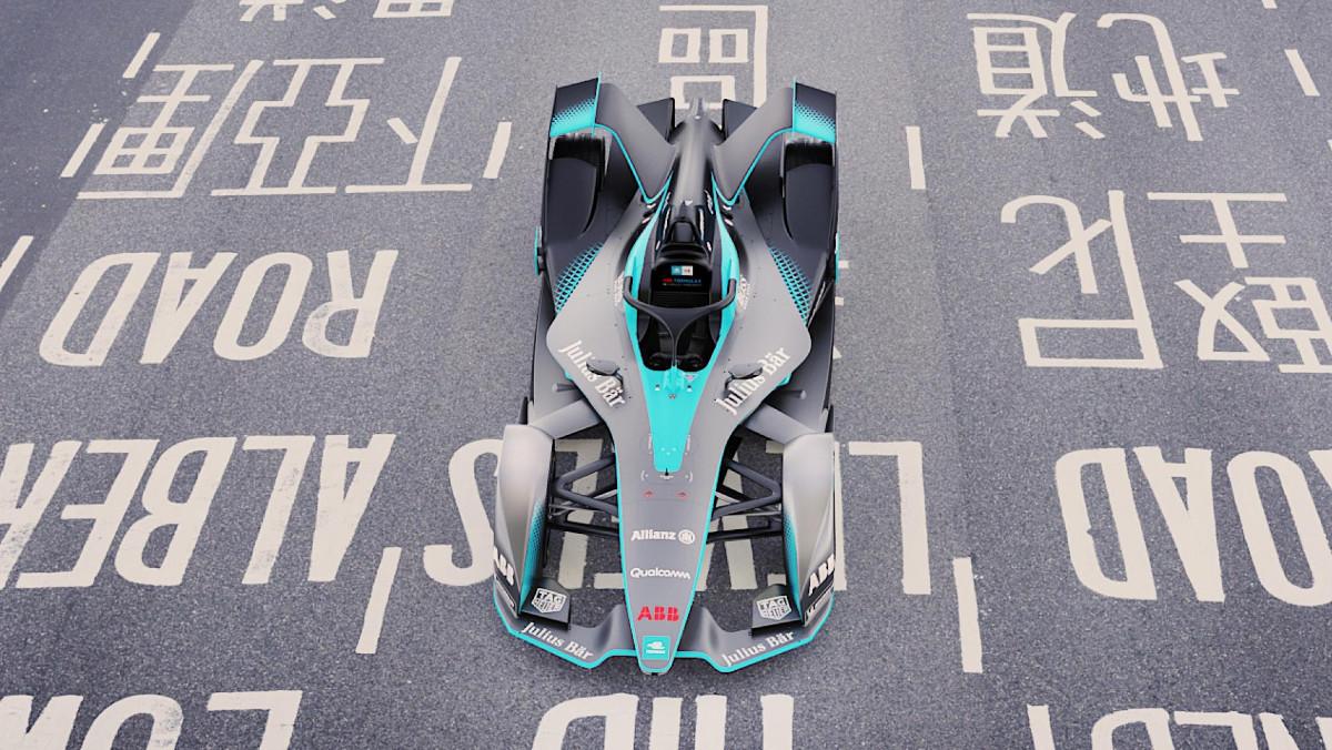 Los coches de la Fórmula E: plano cenital