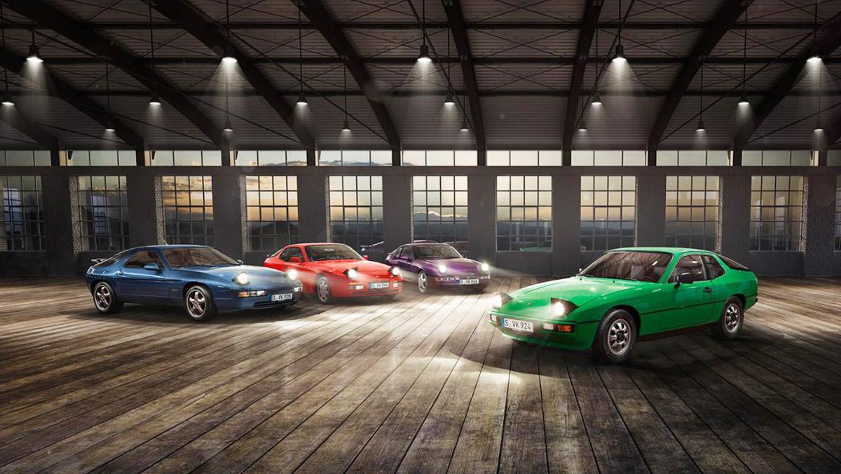 La familia transaxle de Porsche