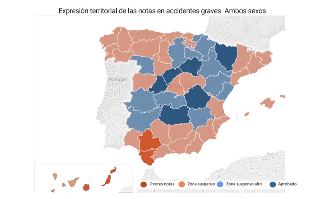 riesgo mapa accidentes jovenes provincias