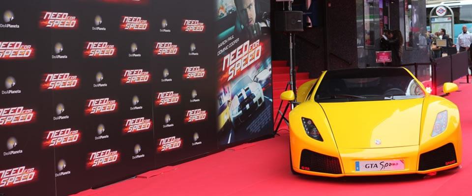 GTA Spano película Need for Speed