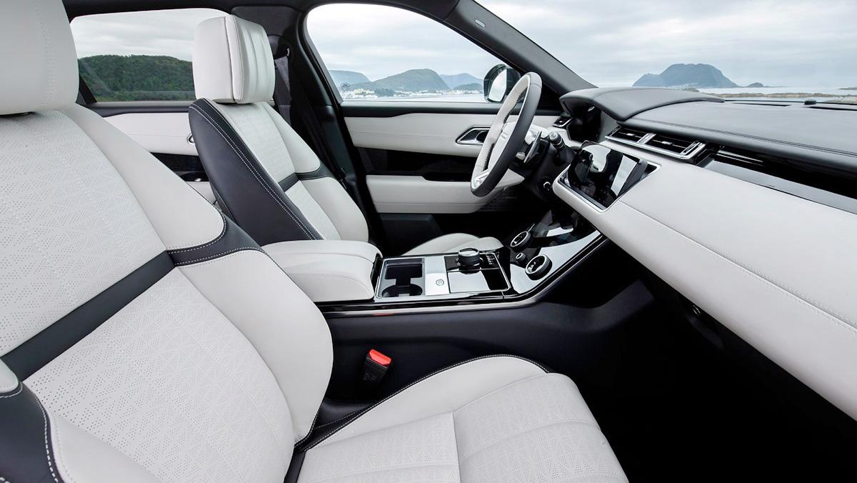 El interior del Range Rover Velar