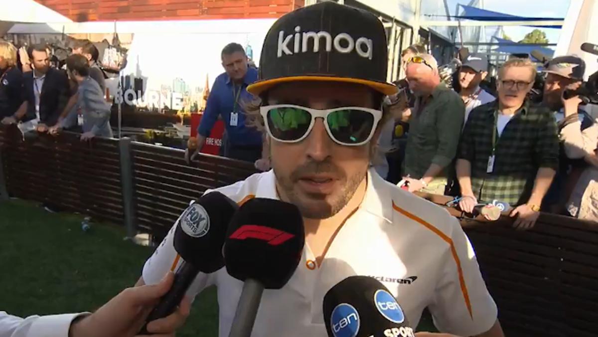 Alonso, feliz como una perdiz en Australia F1 2018