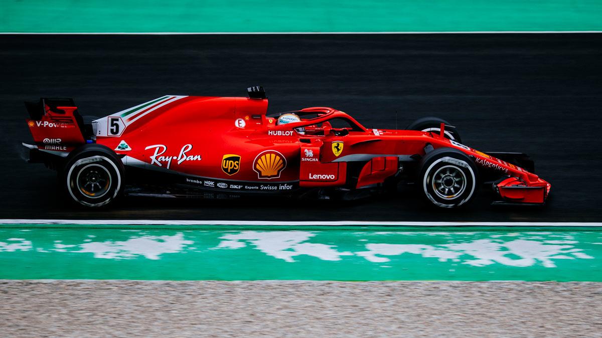 Este es el Ferrari en los test de Barcelona 2018