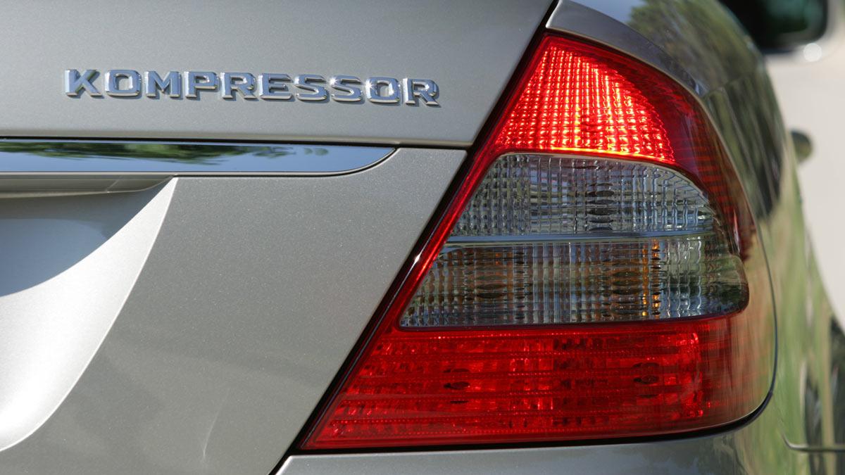 En un Mercedes E200 Kompressor