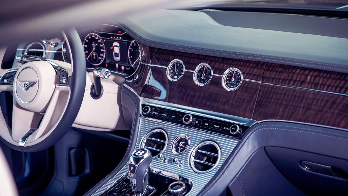 Prueba Bentley Continental GT (salpicadero)