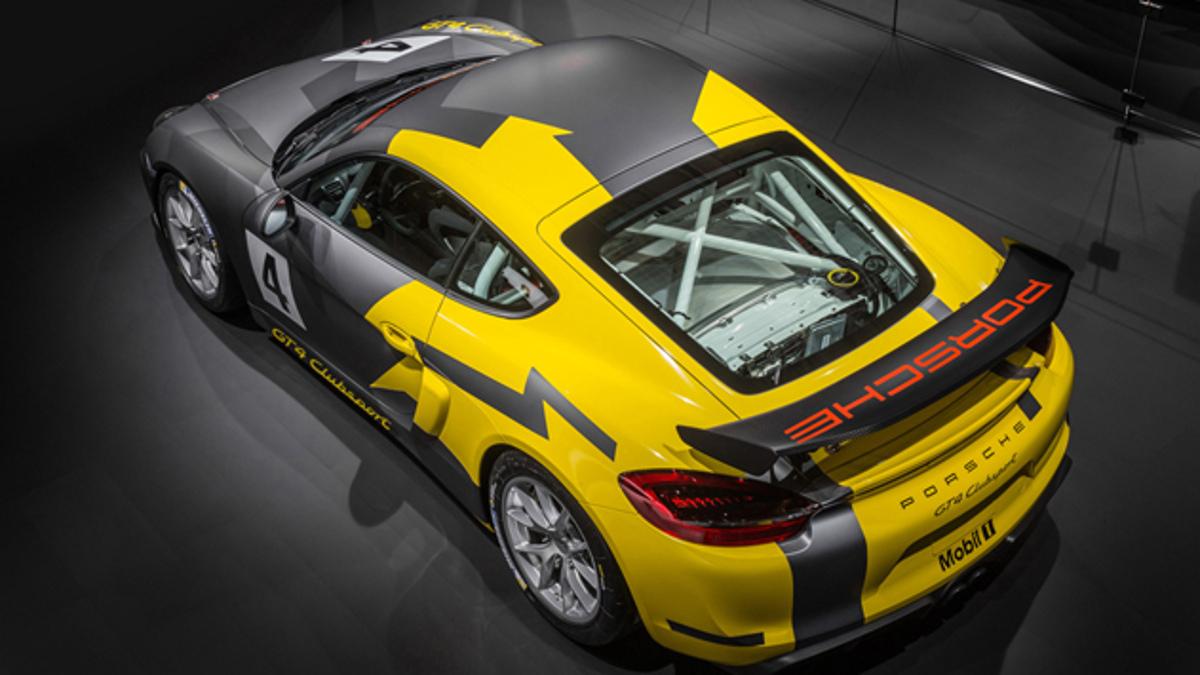Cenital del Porsche Cayman GT4 Clubsport