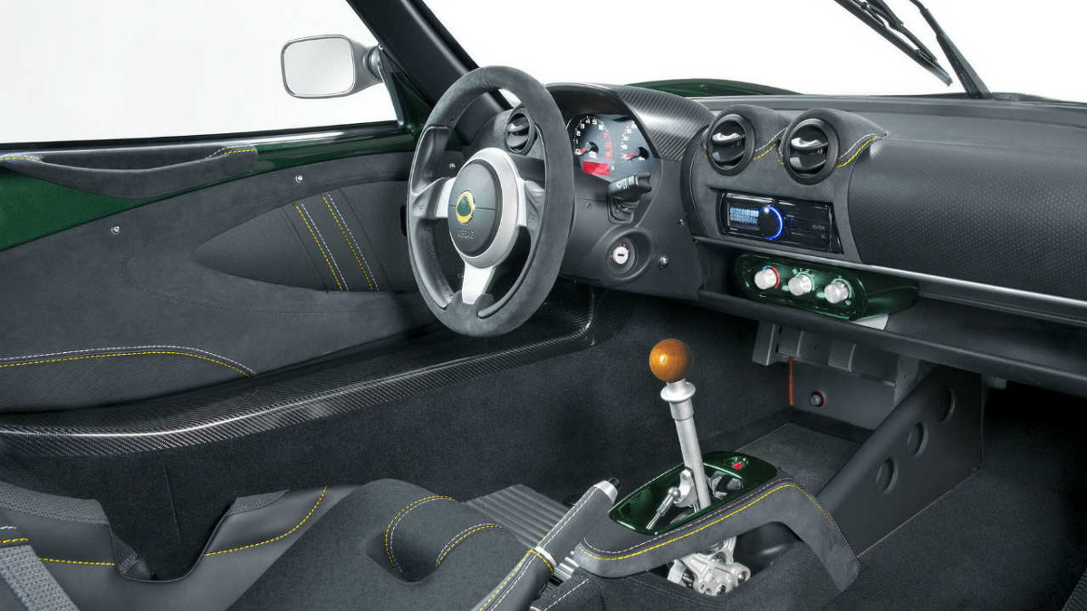 Interior del Lotus Exige Cup 430 Type 25
