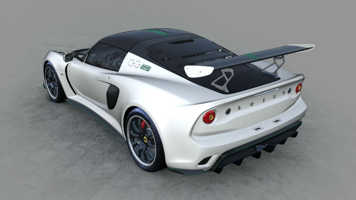 Zaga del Lotus Exige Cup 430 Type 25  blanco