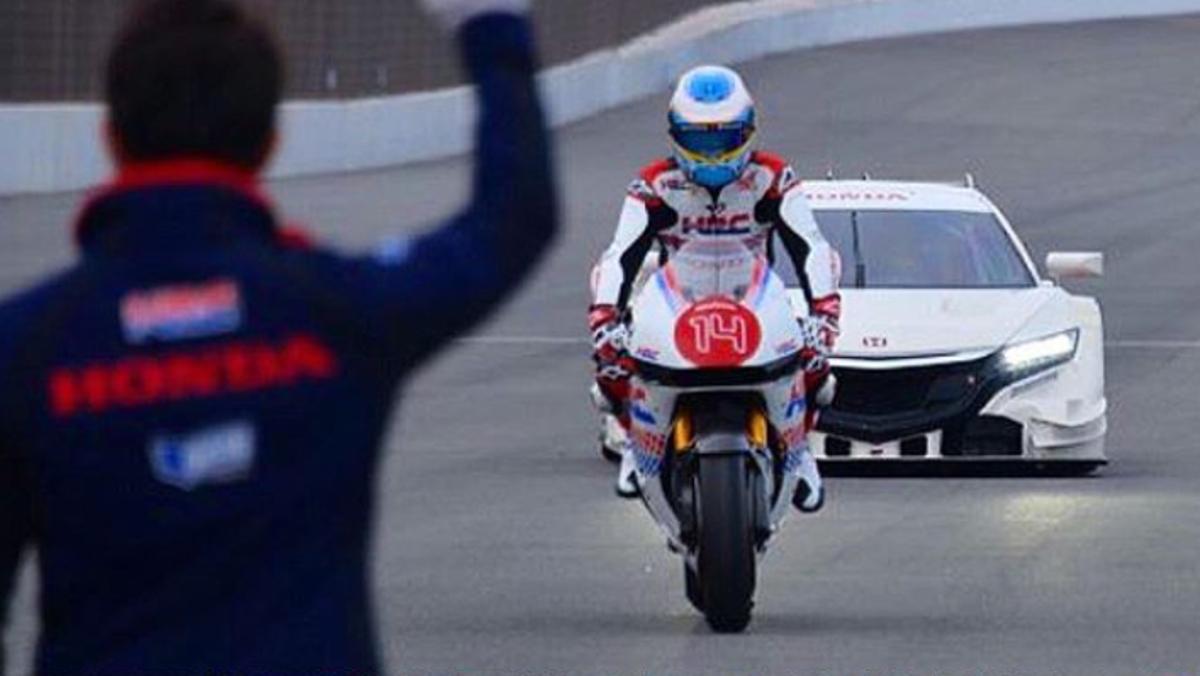 Alonso en Moto