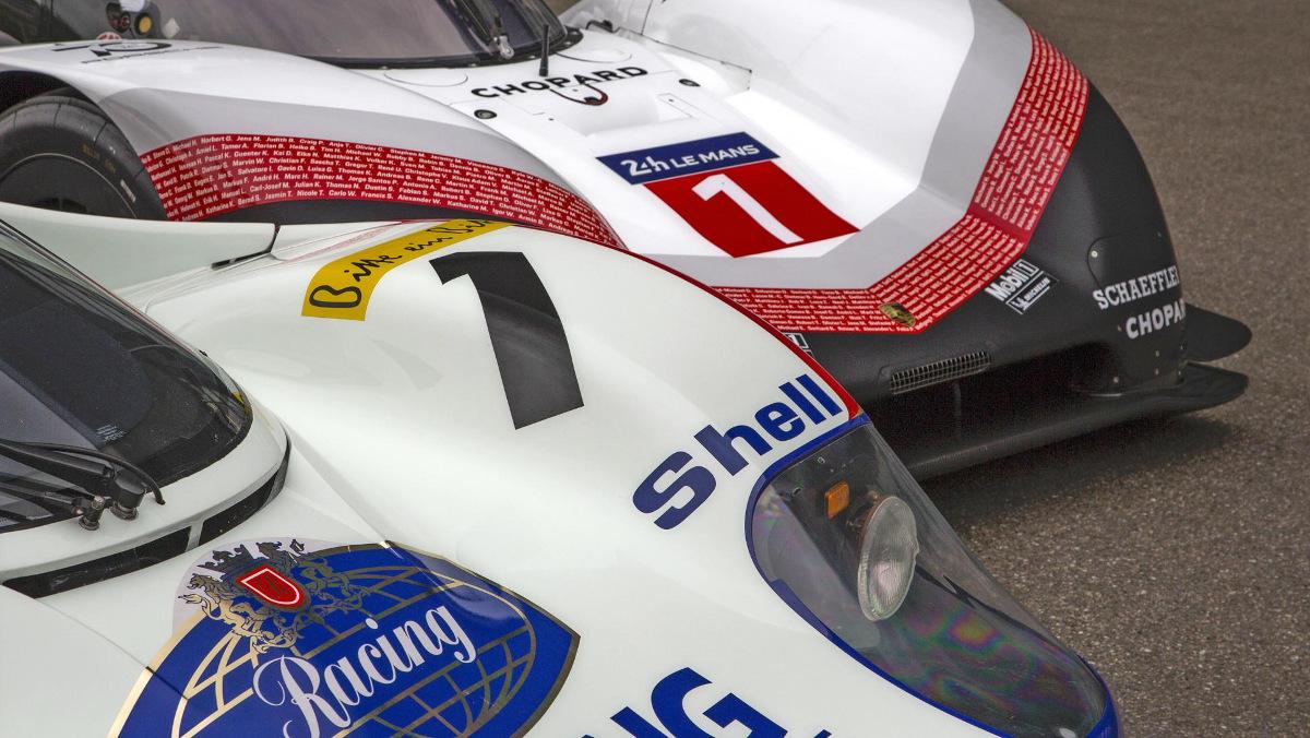 Detalles del Porsche 956 y 919 en Nurburgring